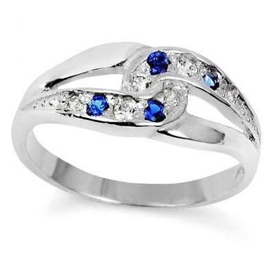 BLUE SARITA Silver Sapphire Ring