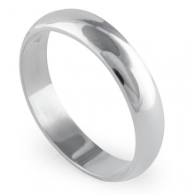 AVENIR 4.5mm Silver Band Ring