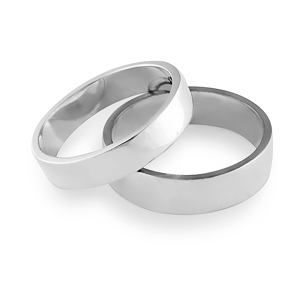 6478247a43 Traditional Sterling Silver 4.5mm Flat Band Wedding/Signet/Right ...