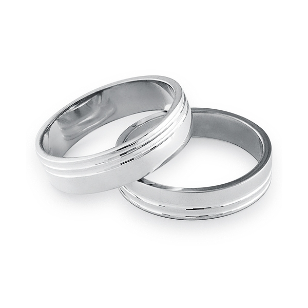 Wide Stylish Sterling Silver 5 5mm Flat Band Wedding Ring With Two Grooves This Ring Requires Up To 7 Business Days To Prepare Prior To Shipping Harry Fay Jewellery