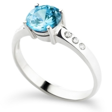AQUAMARINE GEORGETTE Ring