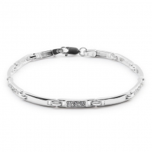 GRETA Silver Bracelet, Size L