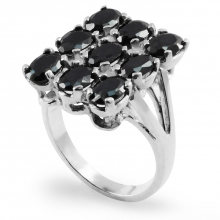 BLACK LILY Silver  Statement Ring