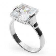 WHITE VELVET Silver Cocktail Ring