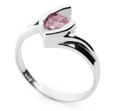 VITALIA Pink CZ Silver Ring