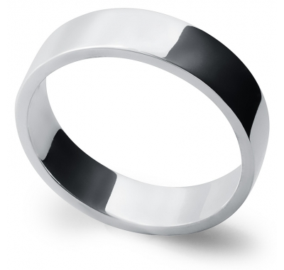 AFFECTION 5.5mm Wide Silver Band