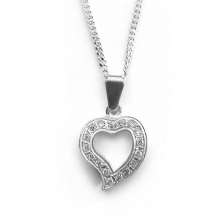 KEIRO Silver Pendant with CZ