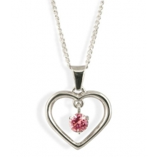 LEAH Silver Ruby Pendant