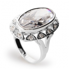 WHITE REGINA Silver Cocktail Ring
