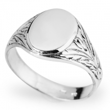 EROL Sterling Silver Men's Signet Ring