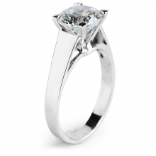 AMORA Silver Solitaire Ring