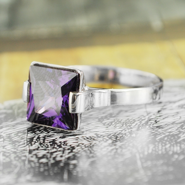 Violet Velvet Sterling Silver Cocktail Ring