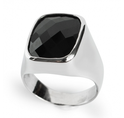 ILTA Silver Signet Cushion Ring