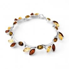 TWIG Amber Silver Bracelet
