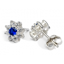 NILA Silver Stud Earrings