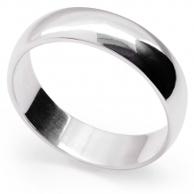 AVENIR 5.5mm Wide Silver Band Ring