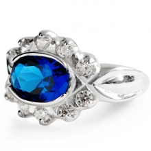 BLUE LAGOON Silver Ring