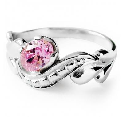PINK TIARA Silver Ring