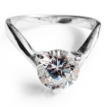 AMORE Silver Solitaire Ring