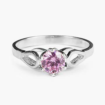 Pink Esme Sterling Silver Ring
