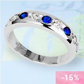 SACHA Sapphire Silver Ring