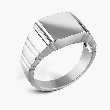 Quillon Sterling Silver Men's Ring