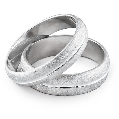 FOREVER His & Hers Wedding Ring Set