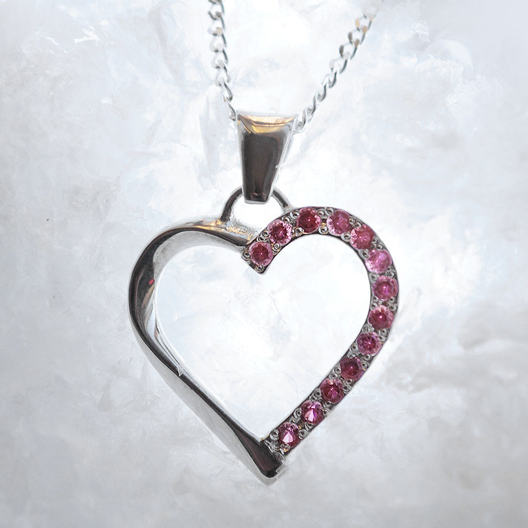 YUMI Silver Pendant with Rubies