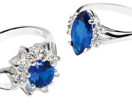 Blue Sterling Silver Rings