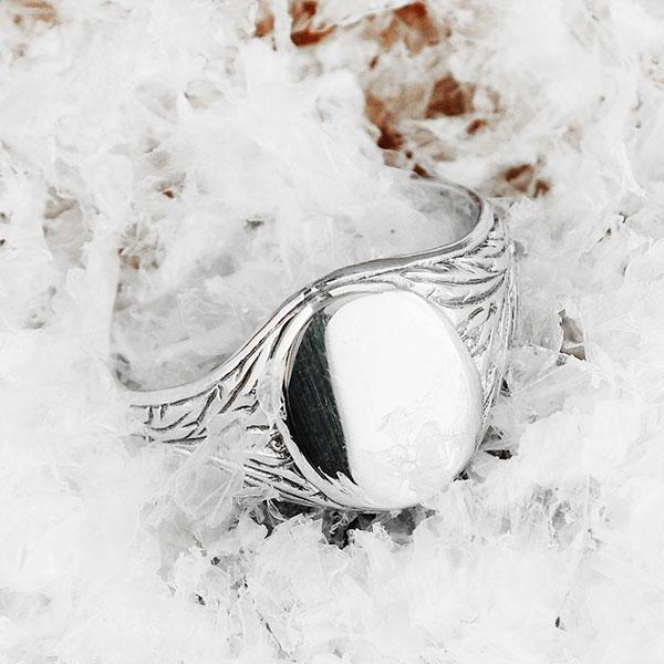 EROL Silver Signet Ring
