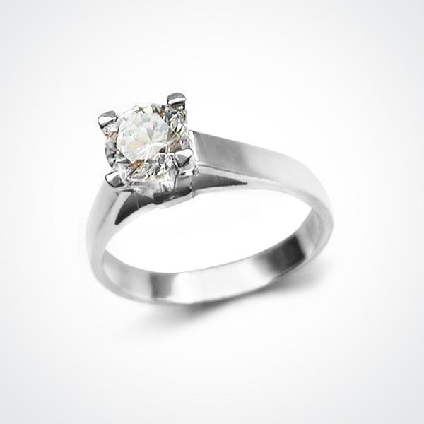 ADORIA Silver Solitaire Ring