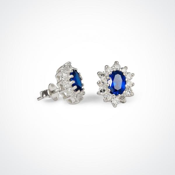 AMIRRA Silver Stud Earrings