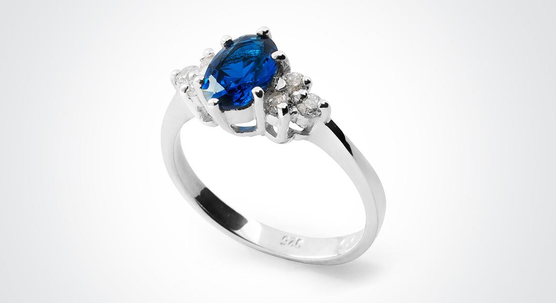 BLUE LOLA Silver Ring