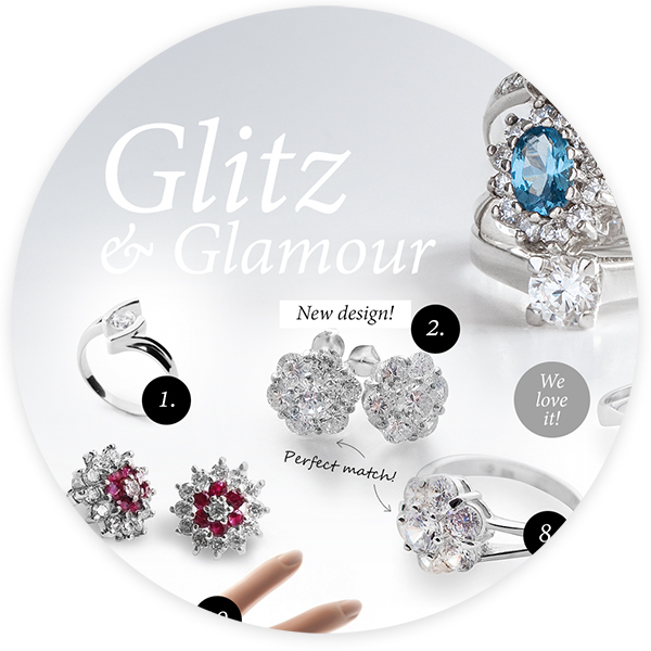 Glitz and Glamour style jewellery: timeless classics