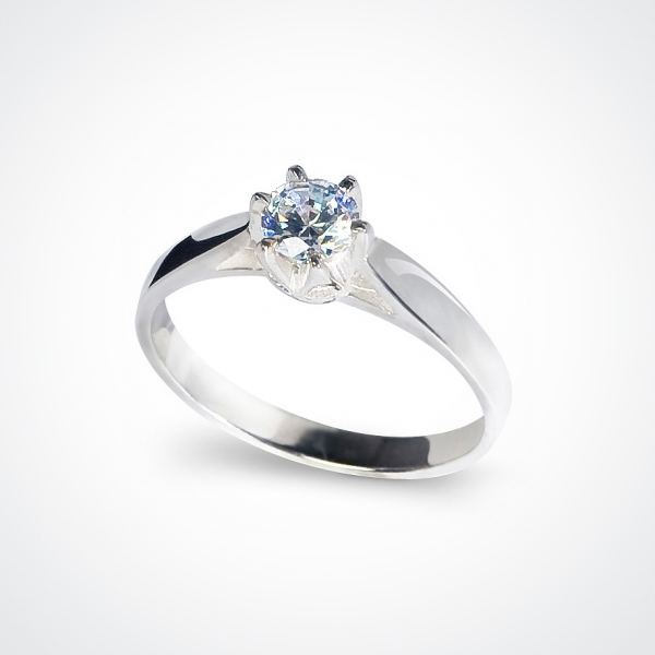 TIAMO Silver Engagement Ring