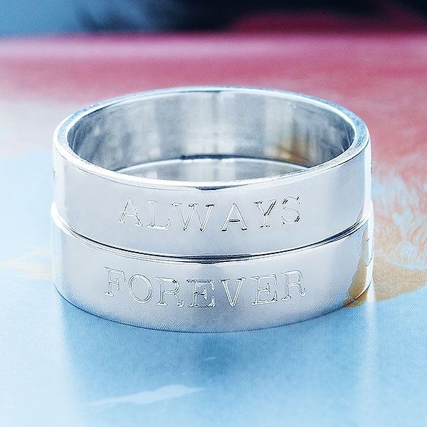 Love Memos Collection Sterling Silver Bands