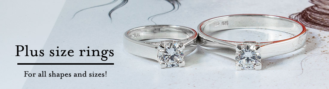 Plus size rings available