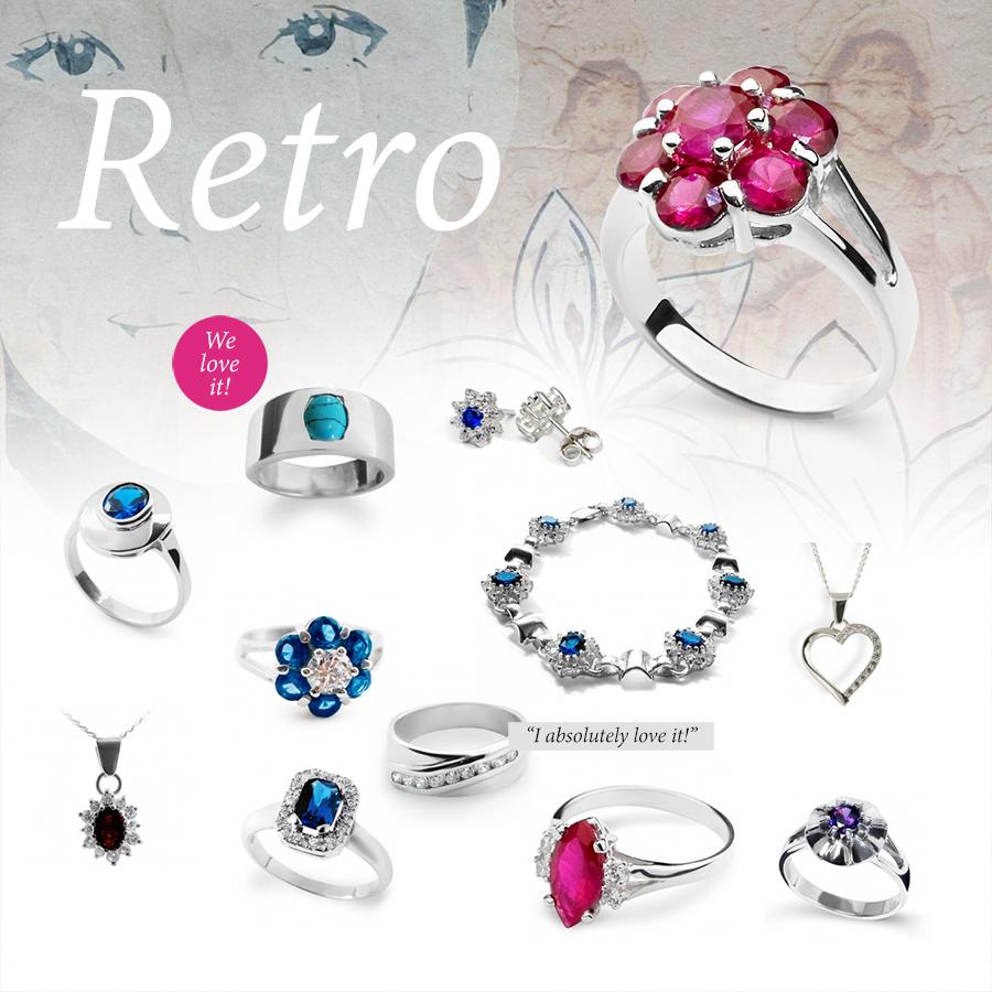 Retro style jewellery: timeless classics