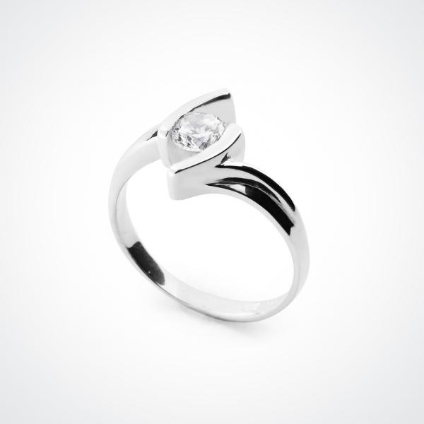 VITALIA White CZ Silver Ring