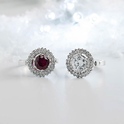 Red and White Aurora Rings