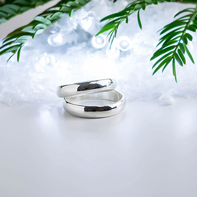 AVENIR Silver Narrow 3.5mm Band Ring