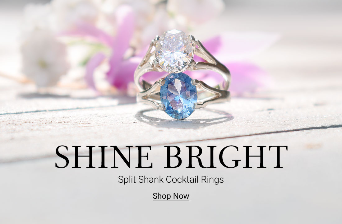 Alva Ring: Split Shank Cocktail Ring