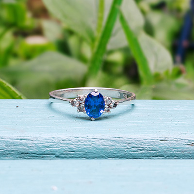 BLUE LOLA Silver Ring