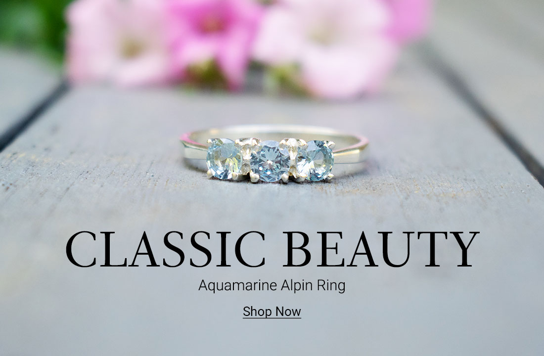 Classic Beauty! AQUAMARINE ALPIN Ring