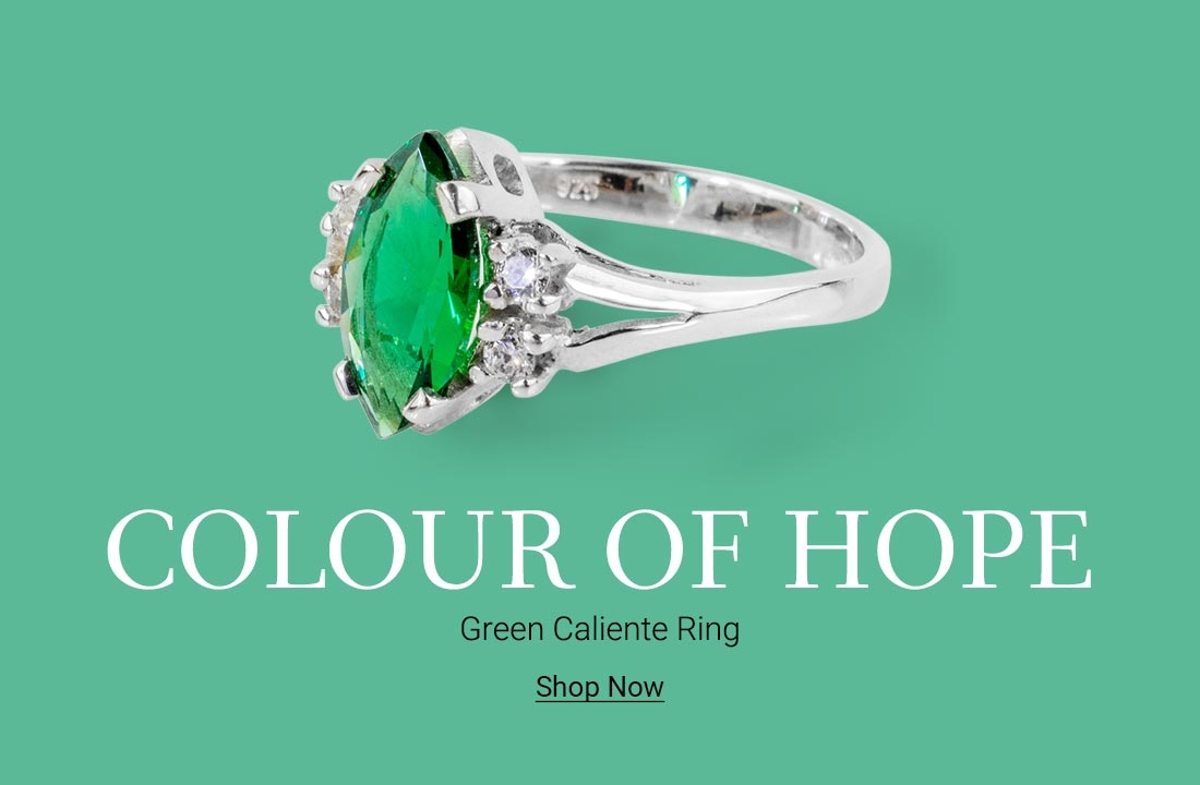 New In: Green Cleo Sterling Silver Ring