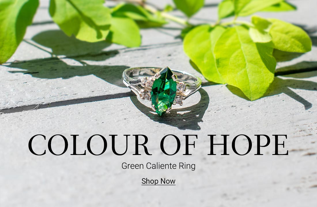 Colour of Hope - Green Caliente Ring