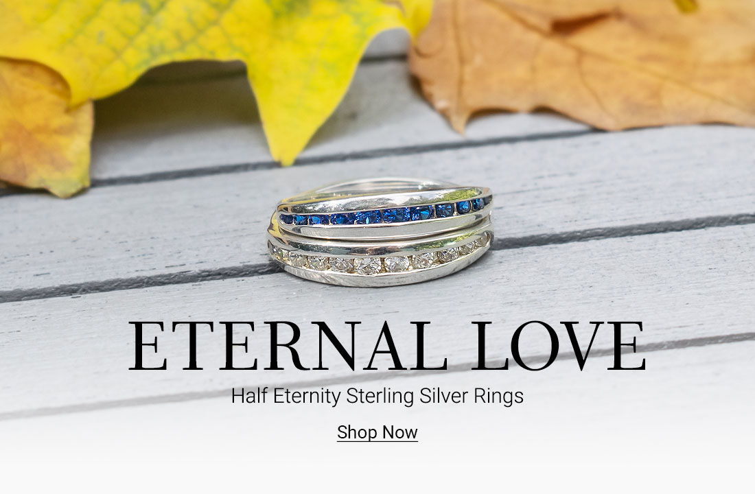 Onze Half Eternity Silver Rings