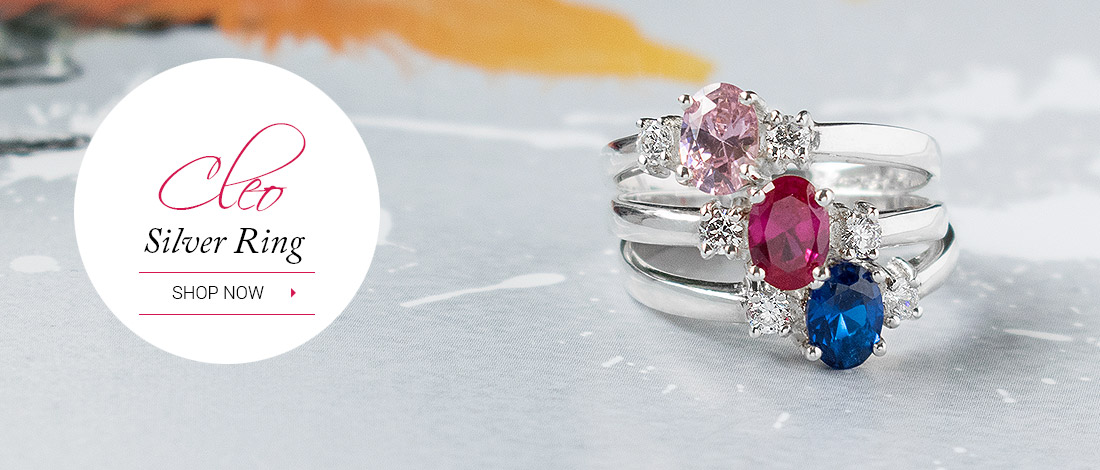 Classic elegance - stunning three stone ring in three colour options.