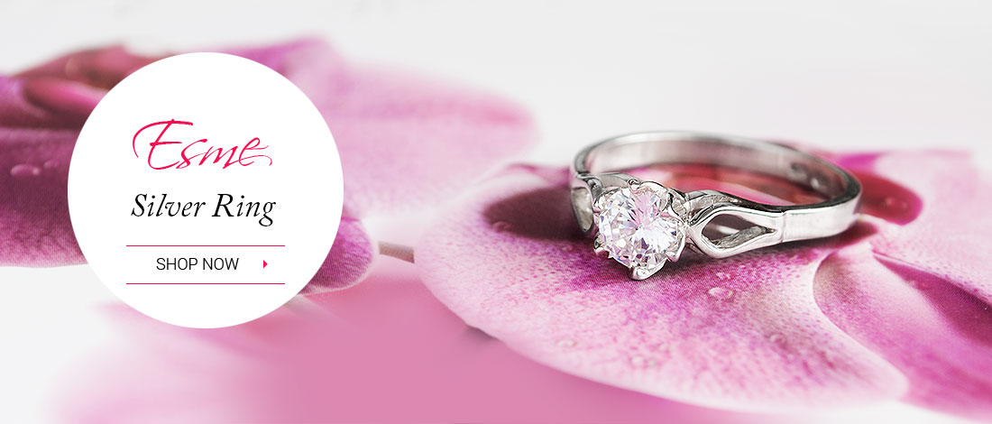 So elegant and feminine, this stunning engagement ring is designed to bring you good luck.
