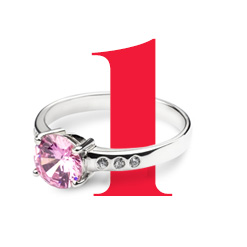 1. Georgette Silver Ring
